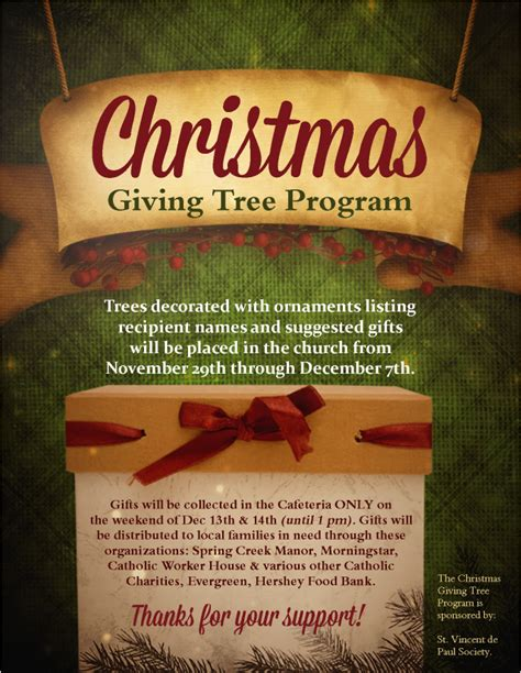 christmas giving tree program st joan of arc catholic