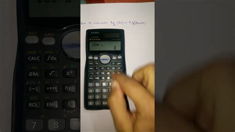 calculator log2 how to solve log with any base questions on casiofx 991ms