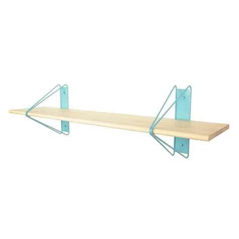 Bracket Shelving System Strut Shelving System From Souda Blue Brackets With Maple