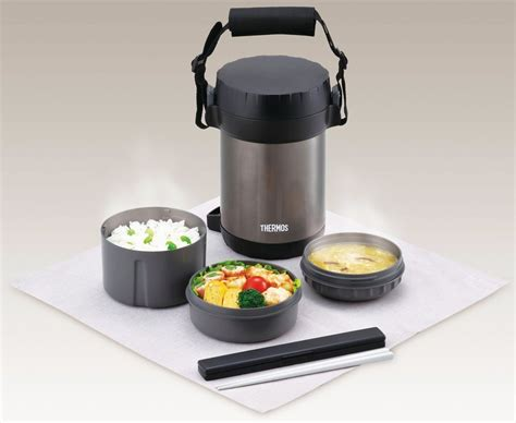 thermos containers new thermos lunch box set bento jar food container black jbg 1800 bk japan 22ew