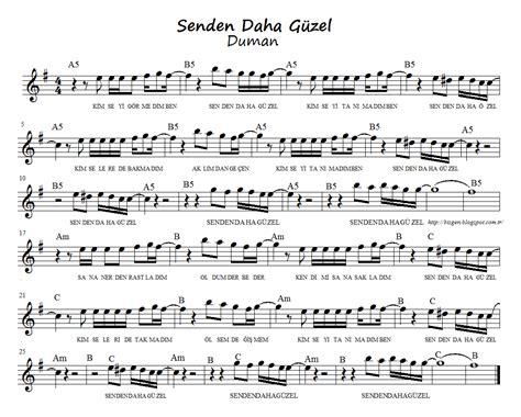 Ks Adena duman senden daha g 252 zel nota akor