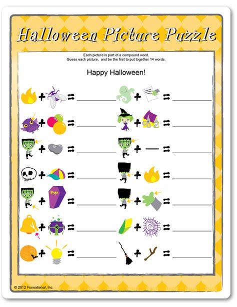 printable halloween puzzle games printable halloween party games for kids and games for