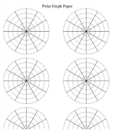polar template polar graph paper template 6 free pdf documents