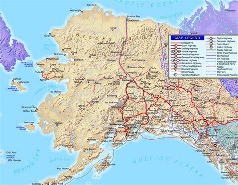 road map alaska usa northwest explorer northern alaska road trip 2008