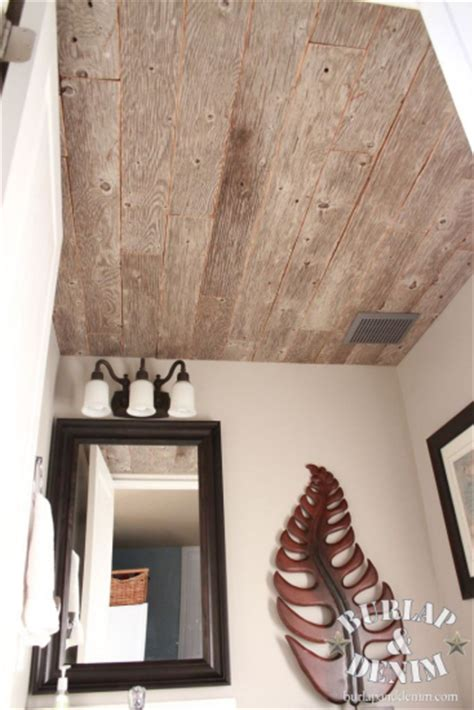 weathered wood ceiling reclaimed weathered wood plank ceiling