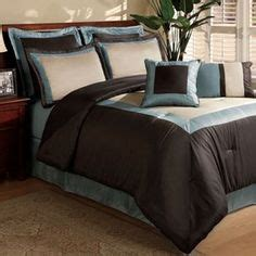 victoria classics daniella 8 pc comforter set bedspreads comforters queen on blue and brown striped