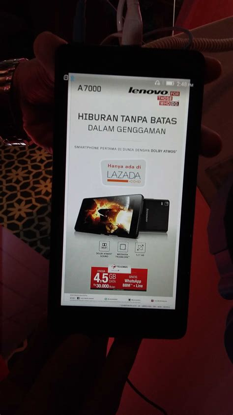 Home Theater Di Malaysia lenovo a7000 meluncur dijual lewat flash sale telset