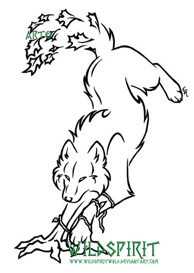 wolf outline tattoo wolf outline