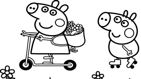 george pig coloring page peppa pig coloring pages free download best peppa pig