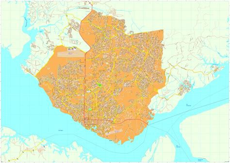 map of manaus manaus vector maps as digital file purchase