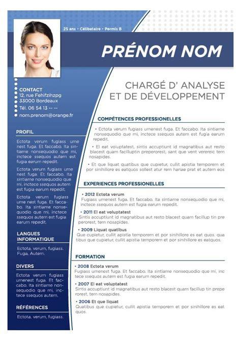 Trame De Cv Gratuit by Cv Professionnel Exemple Gratuit Modele Cv Professionnelle