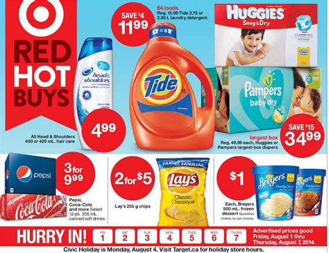 home care flyers target flyer july 31 to august 7 canada