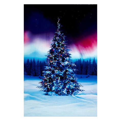 digital christmas tree all aglow digital tree 30 quot panel borealis discount designer fabric fabric
