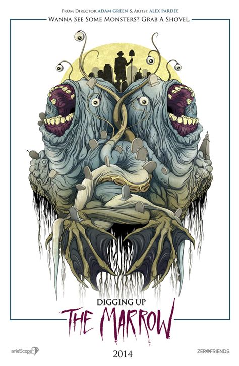 film digging up the marrow poster revealed for adam green alex pardee s digging up