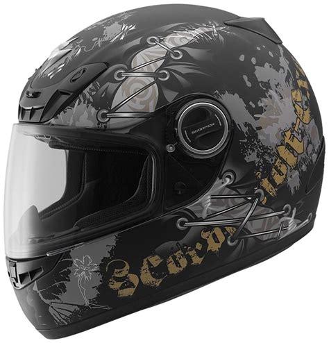 Motorradhelm Gold by Scorpion Exo 400 Scar Helmet Matte Black Gold