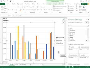 how to create pivot charts in excel 2016 dummies