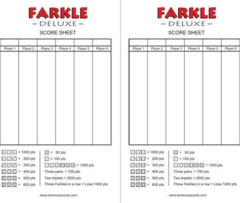 500 card score sheet template free farkle score cards pdf 28kb 1 page s