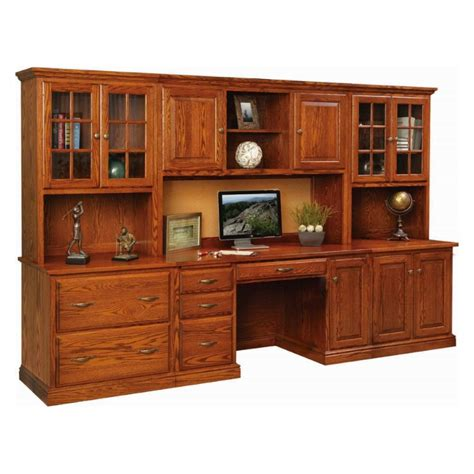 ridge ave office wall unit amish handcrafted solid
