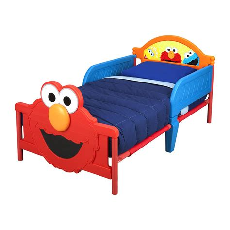 sesame street elmo 3d toddler bed ebay