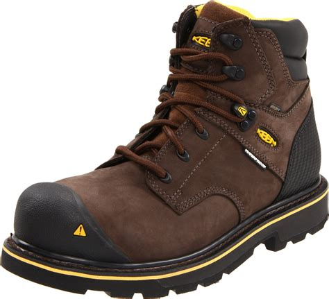soft toe work boots for keen mens tacoma mid soft toe work boot in brown for