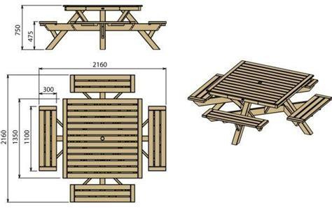 table pique nique carr 233 e en bois tarif et prix b a bois