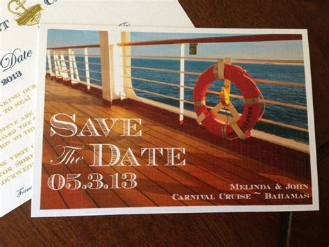 cruise wedding save the date announcement postcard save the date deposit cruise ship design 2458429 weddbook