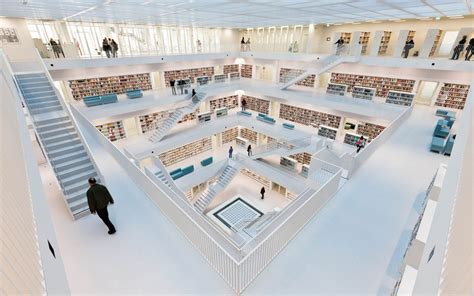 Stuttgart Library by 20 Libraries So Beautiful They Ll Bring Out The Bookworm
