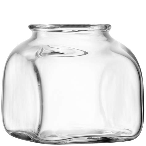 lsa 15cm umberto mouthblown glass vase at black by design