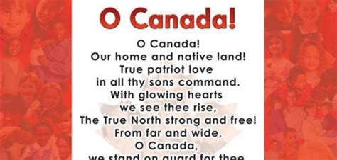 o canada lyrics printable version opinion so much has changed since 1913 why not the