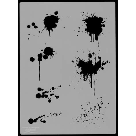 Harder & Steenbeck Stencil   Blood Splash