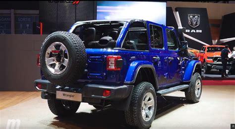 2018 jeep wrangler name jl wrangler in blue with mopar parts at geneva motor