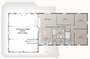 add on floor plans great room addition plan post and beam addition barn style homes house plans pinterest