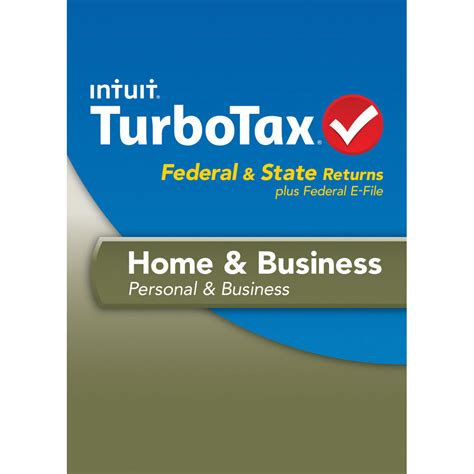 intuit turbotax home business federal e file 424486 b h