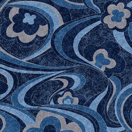 cranston fabric v i p by cranston denim express mod floral fabric navy walmart