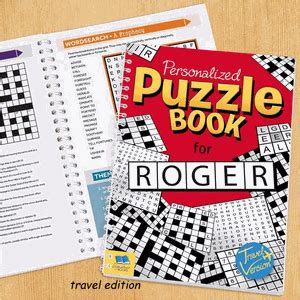 comforting crossword clue personalized puzzle book