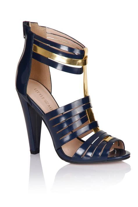 navy multi cut out heels from uk