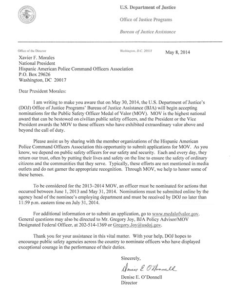 appointment letter health safety officer hapcoa hispanic american commanders association