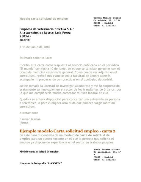 carta de empleo ejemplos solicitud ejemplo de una carta de amonestacion newhairstylesformen2014