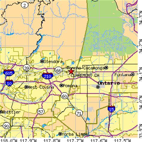 zip code map upland ca claremont california ca population data races