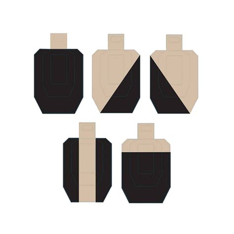 printable uspsa targets action target hard cover ipsc cardboard target variety