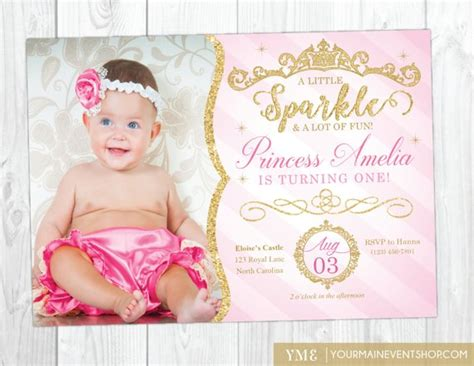 1st birthday invitation email sle princess invitation princess 1st birthday invite pink and gold royal birthday