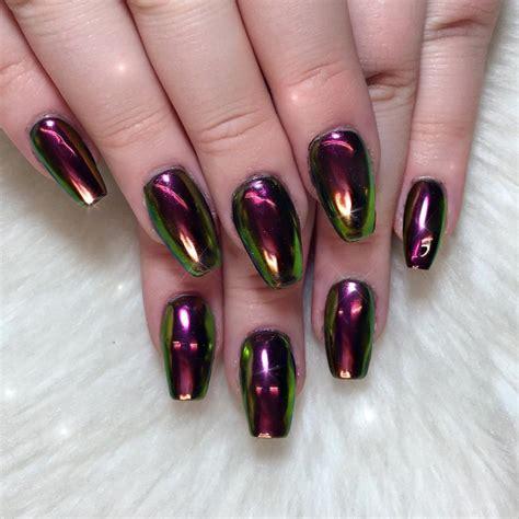 chrome nails how to use chrome powder for super shiny nails beautyheaven