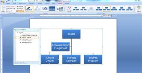 membuat struktur organisasi dengan grafik smartart membuat struktur organisasi dengan grafik smartart di