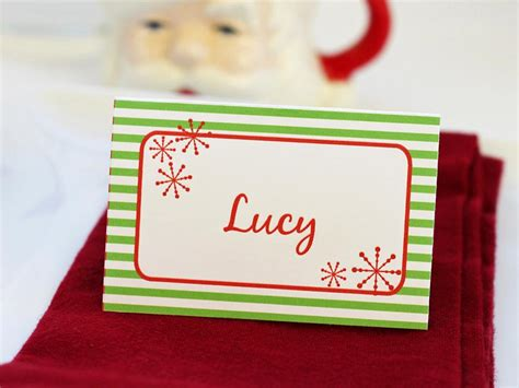 holiday place templates for customizable holiday place setting cards diy