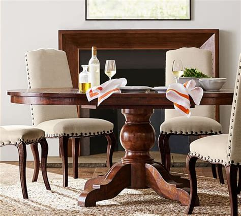 Sumner Pedestal Table Sumner Extending Pedestal Dining Table Pottery Barn