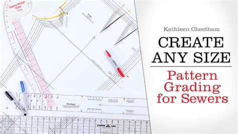pattern making grading ruler create any size pattern grading for sewers a craftsy