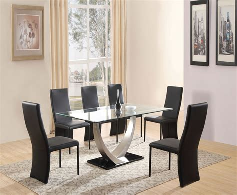 Piper Glass Dining Table Set Glass Table Dining Room Sets