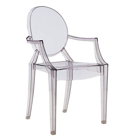 louis ghost chair with armrests by kartell arredaclick