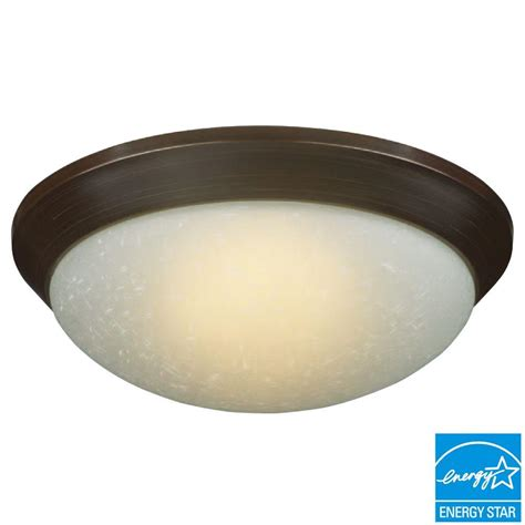 home depot flush mount led light hton bay saguro 4 light russet fluorescent ceiling
