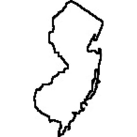 New Jersey State Map Outline by State Of New Jersey Outline Map Rubber St
